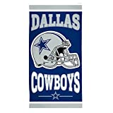 "WinCraft NFL Dallas Cowboys Fiber Beach Towel, 30"" x 60"""