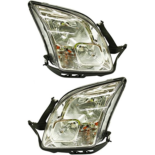 (Evan-Fischer EVA13572055256 Headlight Set Of 2 For Fusion 06-09 Right and Left Side Assembly Halogen)