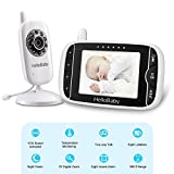 HelloBaby HB32 Wireless Video Baby Monitor with Digital Camera, 3.2 Inch Screen Night Vision Camera& Two Way Talkback Audio and Lullaby Soother System.White