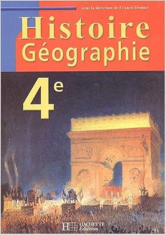 Livre Histoire géographie 4ème pdf, epub