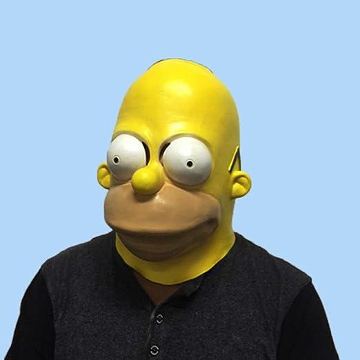 LIJING Mascara De Halloween Mascaras Cosplay De Látex Homer ...