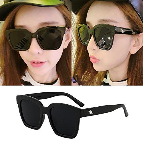 lunettes de soleil mesdames les étoiles de nouvelles nuances de lunettes de soleil élégant de personnalités les visages coréenneboîte noire (sac) grey film DQKEDSNbF