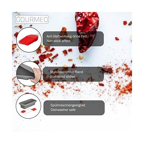 GOURMEO-Stampo-per-Plumcake-rettangolare-in-silicone-Teglia-per-torta-pane-e-dolci-rettangolare-per-forno-e-microonde