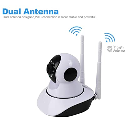 GMM Wireless Wifi Ip Ir Cámara De Doble Antena Ir Visión Nocturna De Vigilancia De Seguridad