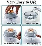 Humidifier for Dry Skin, Diabetes, Rashes, Eczema, Psoriasis, Itchy Skin, Rosacea, Dermatitis, Flare-ups, Hypothyroidism, Xeroderma, Xerosis | Premium Humidifying Unit with Orange Nightlight 4-8 Hours