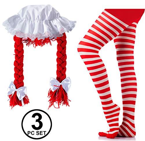 Tigerdoe Rag Doll Costume - Wig & Hat