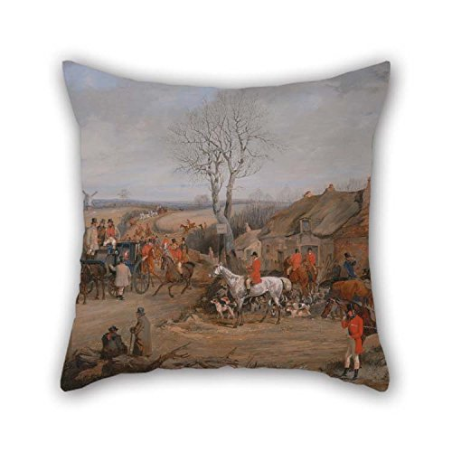 16 X 16 Inches / 40 By 40 Cm Oil Painting Henry Thomas Alken - Hunting Scene- The Meet Pillow Cases Two Sides Is Fit For Coffee House Club Saloon Chair Sofa Kids Room (Alken Horse)