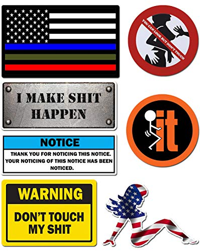 Hard Hat Stickers, Premium Thick Funny Vinyl Decals for Hardhat, Helmet, Toolbox, Laptop, Mug, Car Bumper and More | Waterproof | American Flag (Mudflap Girl) (Vinyl Waterproof Flag Decals)