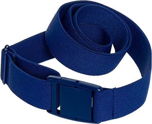 Womens Invisible Belt - Elastic Adjustable No Show Web Belt by Silver Lilly (Blue, 0-14)