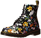 Dr. Martens Women's Darcy Floral Pascal DF Ankle Boot, Black, 4 Medium UK (6 US)