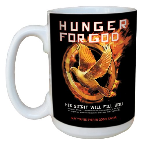 Tree-Free Greetings lm44262 Hunger Games for God: John 6:35 Ceramic Mug with Full-Sized Handle, 15-Ounce -