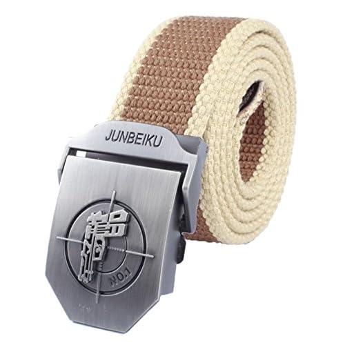 De alta calidad Menschwear Cintura De La Lona De Hebilla De Correa Pretina  Tejida Para Hombre 04b542e04b42