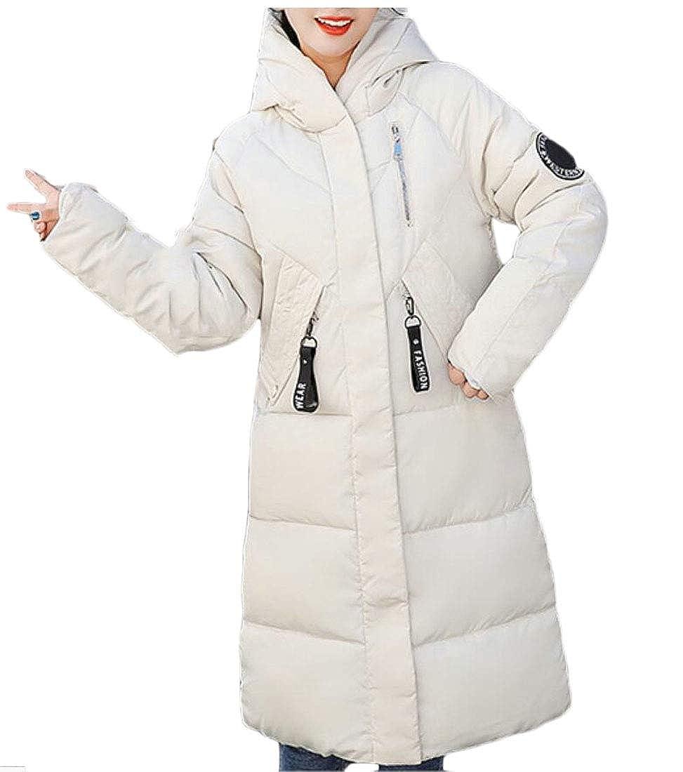 1 WSPLYSPJY Women's Autumn Winter Hooded Warm Thicken Padded Coat Long Jackets