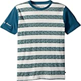 Lucky Brand Big Boys' Short Sleeve Graphic Tee Shirt, Mineral Blue Stripes, X-Large (18/20)