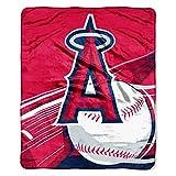 "Officially Licensed MLB Los Angeles Angels Big Stick Raschel Throw Blanket, 50"" x 60"""