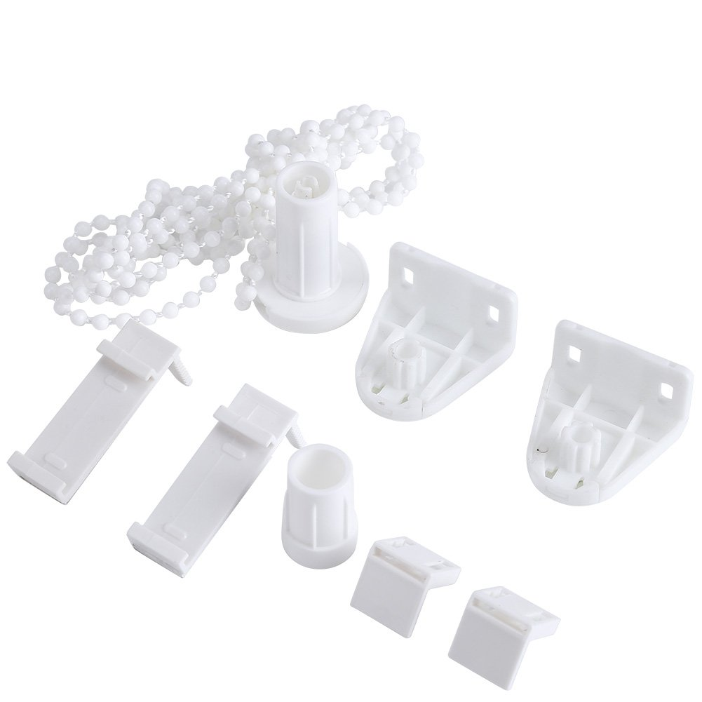 GLOGLOW 17mm Roller Blind Fittings Roller Blind Shade Clutch Bracket Side Pulley Chain Repair Fitting Kit Bead Chain Roller Blind Curtain Brackets Set Window Treatments