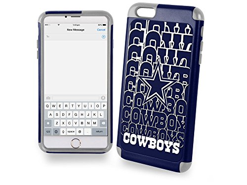 Forever Collectibles Dual Hybrid 2-Piece TPU Case for iPhone 6 Plus - Retail Packaging - Dallas Cowboys