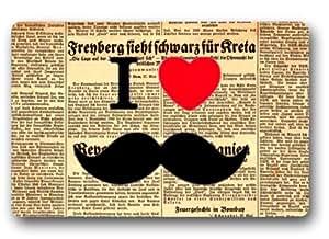 Customize Moustache Floor Doormat