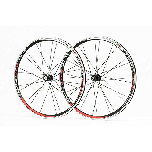 Vuelta Zerolite 700c Pro Road Bike Wheel Set in Black (Rear Alloy 700c Wheel)
