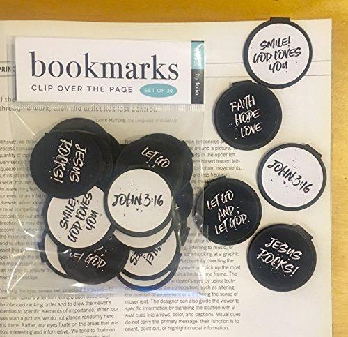 Inspirational Bookmarks (Set of 30) JESUS ROCKS, SMILE! GOD LOVES YOU, LET GO & LET GOD, JOHN 3:16 ASSORTMENT]()