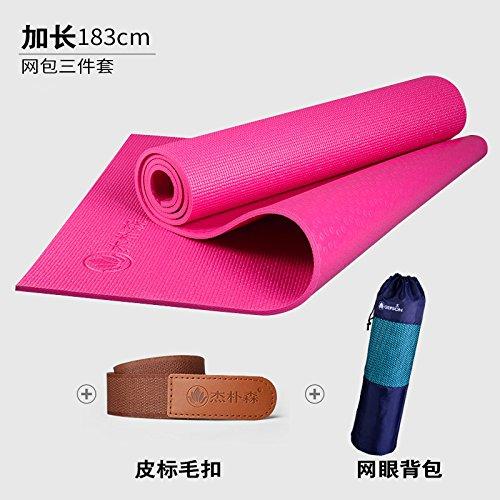 Cherry rouge 8Mm( Beginner) YOOMAT Le débutant Yoga Mat épais 8Mm Encore Plus évasé et Long Yoga Femme Fitness Mat Mat Anti-Slip168939