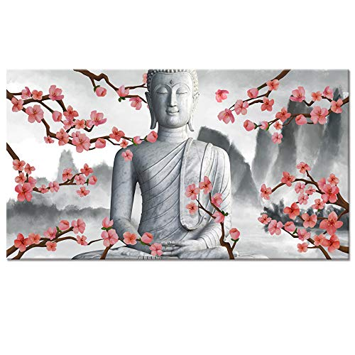 Visual Art Decor Modern Buddha Canvas Wall Art,Buddha Painting Picture Prints,Buddha Statue Wall Decoration Framed and Stretched Giclee Canvas Print Buddha Wall Art (Buddha -