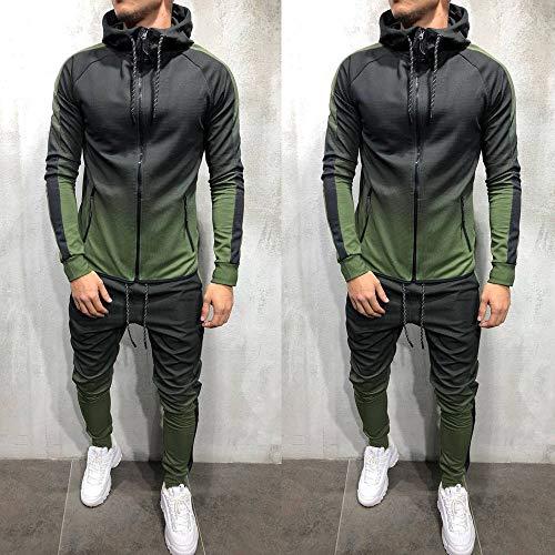 67a486c3f 2019 New Mens Gradient Packwork Printed Zipper Long Sleeves ...