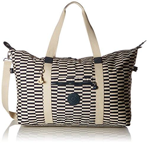Kipling Damen Art L Beach Stofftasche, Mehrfarbig (Striped Print), 15x24x45 Centimeters