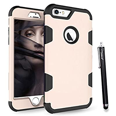 iPhone 6S Case, iPhone 6 Case, Cattech [Three Layer] [High Impact Resistant] [Hybrid Shockproof] [Full-Body/Heavy Duty Protective] Cover Case for Apple iPhone 6/6S [4.7 inch] + Stylus
