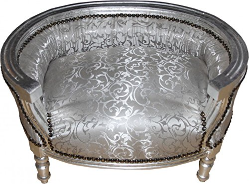 Casa-Padrino-Baroque-Dogs-Cats-sofa-in-silver-dog-chair-seat-dog-bed-cat-bed-dog-cat-furniture