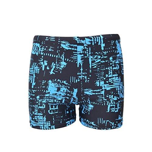 f92a3b538f0bad durable service EASEA Men`s Swimming Trunks Prints Square Leg Swimsuit