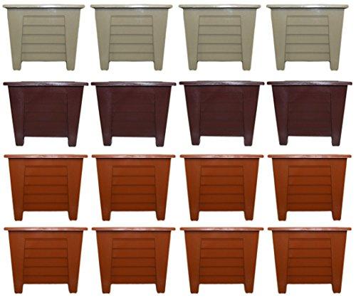 Set of 16 Black Duck Brand Plastic Multi Color 5.5