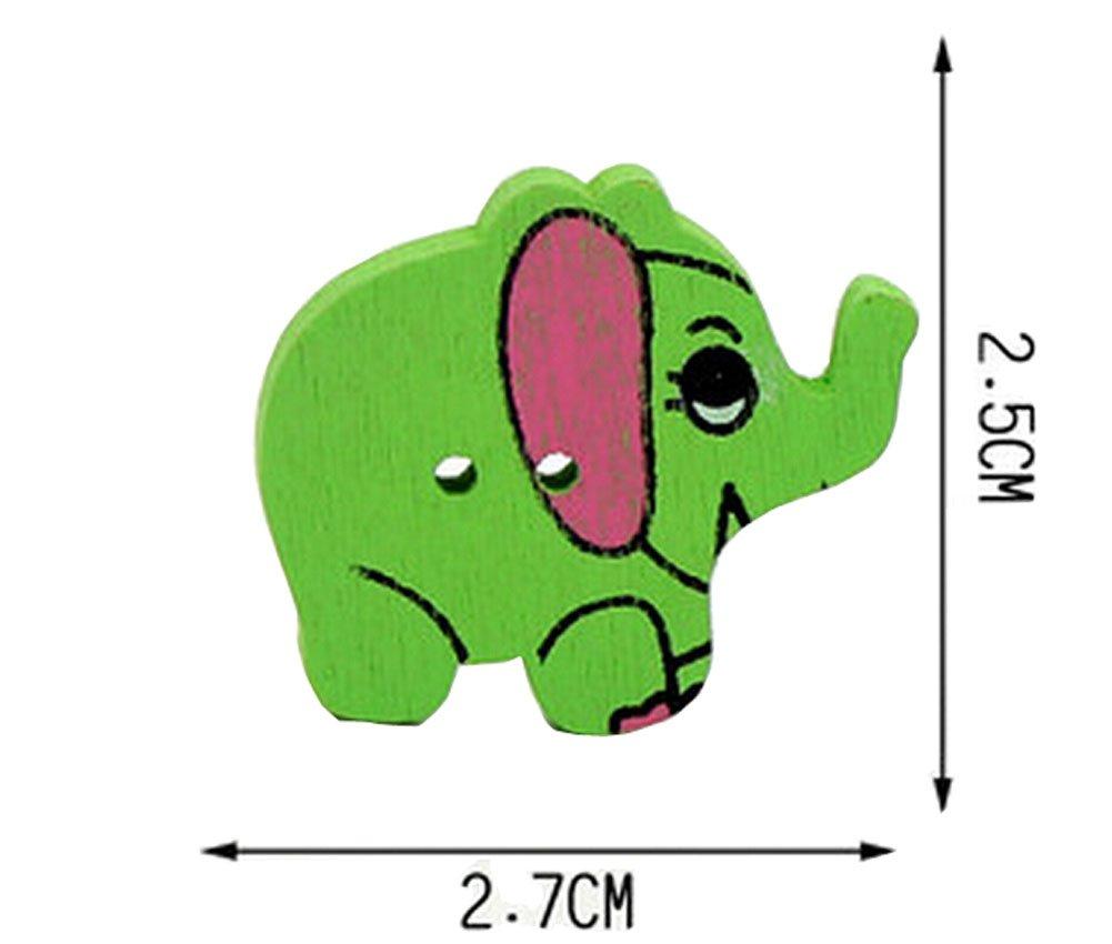 Set of 40 Baby Sweater Buttons Cartoon Decorative Buttons Elephant(Random Color)