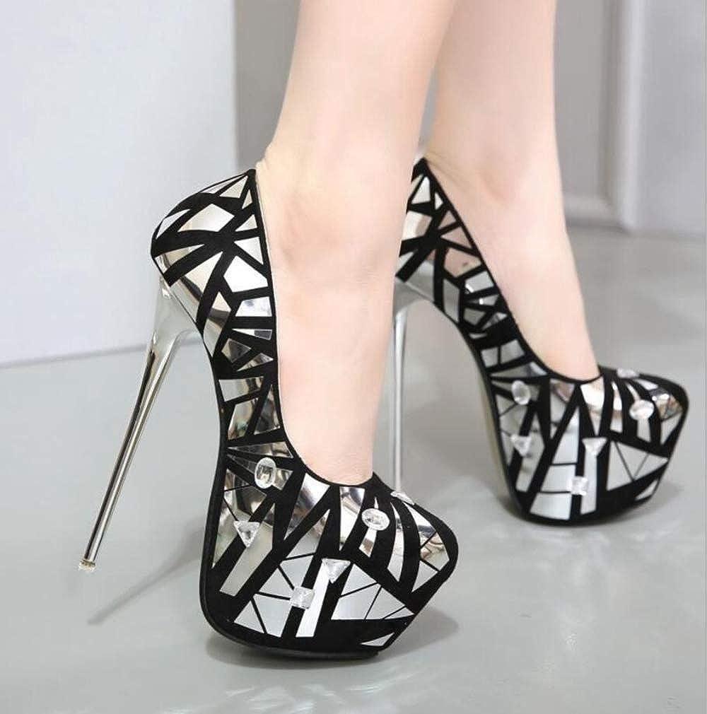 Shiney Shiney Shiney Frauen Stiletto Heels Plattform 16 cm Künstliche PU High Heels Party 233d47