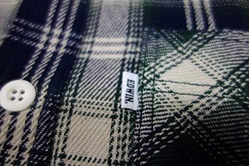 ワークシャツ 長袖 チェック柄ネル メンズ ET2093