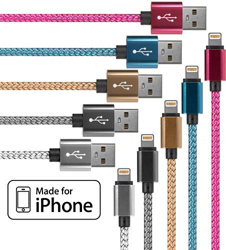 lightning-cable-for-iphone-5-pack-33-feet-in-gold-silver-grey-pink-and-blue-cable-w-lightning-connec