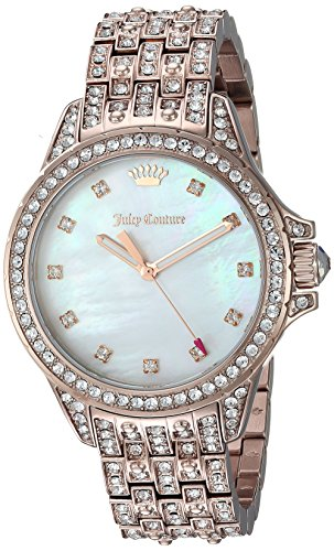 Juicy Couture Women's 'MALIBU BLING' Quartz Gold Casual Watch(Model: 1901560) (Juicy Couture Model)