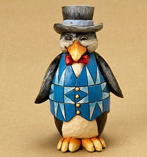 Jim Shore Minature Mini Penguin with Top Hat