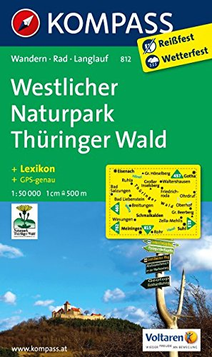 Westlicher Naturpark Thüringer Wald: Wanderkarte mit Kurzführer, Radwegen und Loipen. GPS-genau. 1:50000 (KOMPASS-Wanderkarten, Band 812)