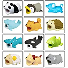 Cable Cord Protector Cute Cable Bites Animals for iPhone, Various Animal Cable Chompers Cable Chewers Cable Accessories Phone Cables Protects Creative Gifts for Most of Mobile Phone