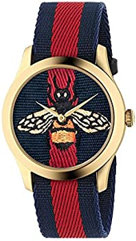 Gucci Timeless Blue and Red Dial Ladies Watch