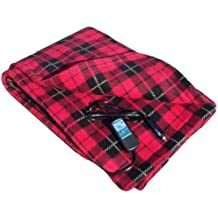 "Trillium Worldwide Car Cozy 2 12-Volt Heated Travel Blanket, (Red Plaid, 58"" x 42"")"