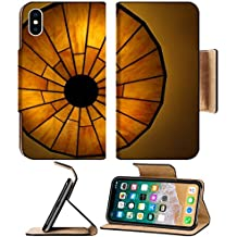 MSD Premium Apple iPhone X Flip Pu Leather Wallet Case IMAGE ID: 4816540 Photo of a beautiful lit Tiffany style ceiling lamp in warm and bright colors