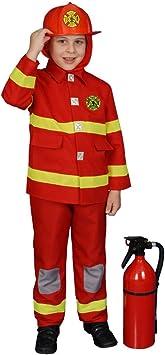 Dress Up America Conjunto de Disfraces de Bombero niño: Amazon ...