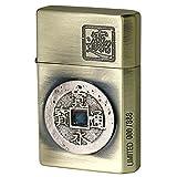 Gear Top Oil Lighter Japanese Real Old Coin Kanji 寛永通寳 Made JAPAN Brass