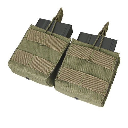 Double M-14 Open Top Mag Pouch Color- OD Green