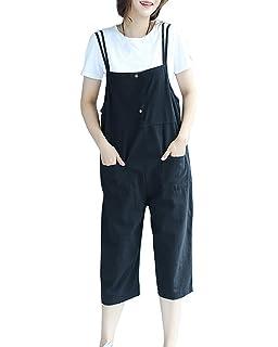 381c9814a01 Women Vintage Loose Wide Leg Baggy Dungarees Jumpsuit Playsuit Capri Trousers  Harem Pants