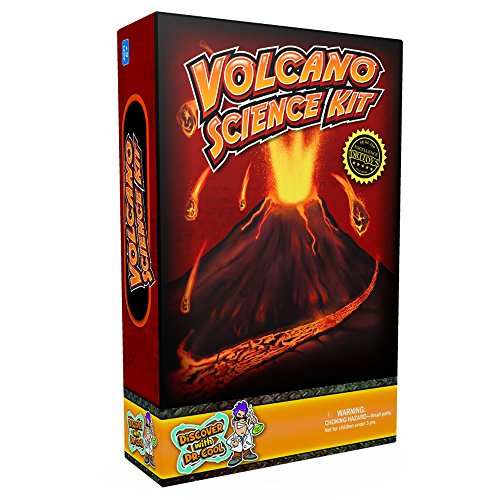 Discover with Dr. Cool Ultimate Volcano Science Kit – Craft a Volcano and Make It Erupt