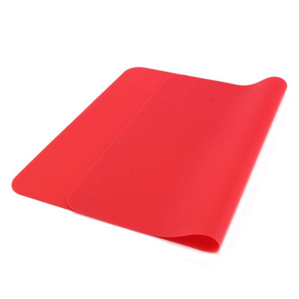 Kayi souple en silicone Tapis de cuisson Tapis Bakeware résistant aux températures élevées de cuisine Tapis de cuisson, Silicone, Red, Taille unique