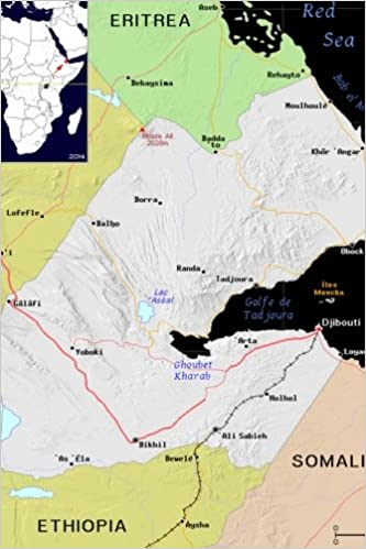 Djibouti On Africa Map.Modern Day Color Map Of Djibouti In Africa Journal Take Notes